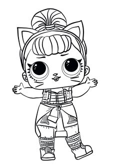 Free Lol Doll Coloring Sheets Kitty Queen LOL SURPRISE