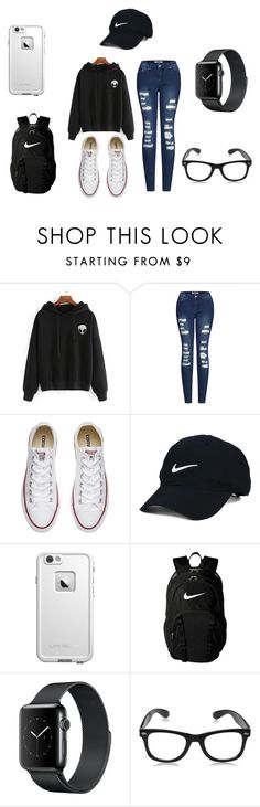 """""""School"""" by roxas-lightwood on Polyvore featuring 2LUV, Converse, Nike Golf, LifeProof and NIKE"""