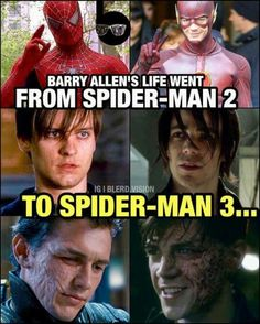 The flash and Spider-Man