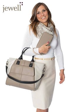 Introducing Jewell by Thirty One Diamond District bag. Get it for half off when you host a $200 party or more. Ask me how!