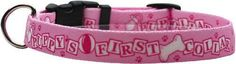 "Yellow Dog Design Puppy's First Collar Pink Dog Collar, Medium-3/4"" wide fits neck sizes 14 to 20""/4"" wide"