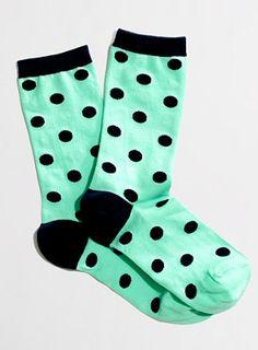 Polka dot socks #jcrew