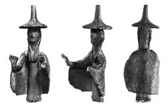 Sardinia, bronze sculpture representing a Priestess