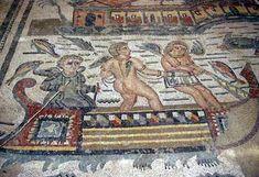 /2/2-12-05-12-5447 - PIAZZA ARMERINA - la villa romana del casale: scena degli amorini pescatori