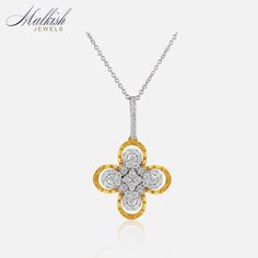 Stunning floral pendant by Malkish Jewels. Available on Joolz now!