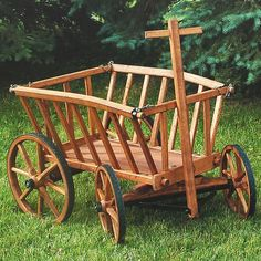 Our Amish-made goat wagons (also called pumpkin wagons) make eye-catching decorations. Can also be used to carry firewood or garden produce or for children to pull toys and dolls around the yard. Handmade by Amish woodworkers; at Lehmans.com.