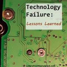 After a recent hard drive failure, I decided to make some changes to the way I use technology. Here are tips to help others manage digital information. Technical Difficulties, Work From Home Tips, Learning Letters, Data Recovery, I Decided, Lessons Learned, Helping Others, How To Apply, Technology