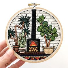 by sarahkbenning: This Sunday is off to a good start. The sun is out and I finished up this little fireplace piece. It will be a part of my next shop update on sarahkbenning.com on January 26th (in case you were wondering )