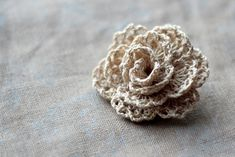 ~ love this crocheted rosette