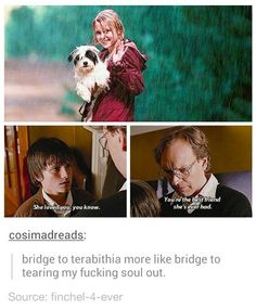 Bridge to terabithia sometimes you have to watch the sad bits to reach something happier on the other side