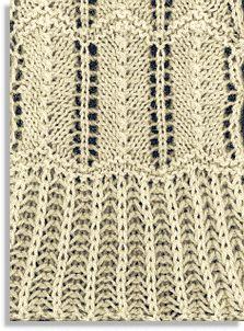 Petticoat stitch pattern as knitted