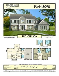 Plan 3090: THE JOHNSON - House Plans - 2 Story House Plan - Greater Living Architecture - Residential Architecture