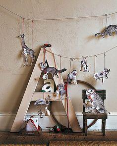 Calendario de adviento de animales. Manualidades fáciles para navidad