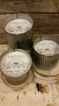 Rendezvous Soy Candles custom Jardin Tins for Mathes Land and Cattle Co.