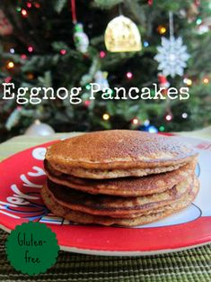 Eggnog Pancakes - Who could refuse this breakfast recipe on Christmas morning?