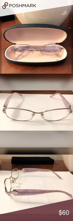 Versace Glasses 100% AUTHENTIC   Model: 1139  Size: 52-16-135  Color: 1012 SHINY SILVER/ LAVENDER MARBLE *Will have to get your own prescription lenses put in* Versace Accessories Glasses