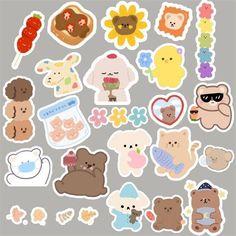 Pop Stickers, Kawaii Stickers, Printable Stickers, Printable Scrapbook Paper, Scrapbook Stickers, Journal Stickers, Planner Stickers, Kawaii Wallpaper, Iphone Wallpaper