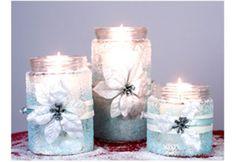 Décoration de Noël : porte-bougies des fêtes #diy #noel #bricolage