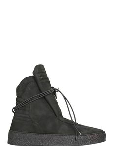 The Most Popular Ylati Footwear Giove Black Nabuk High Sneakers For Men Outlet