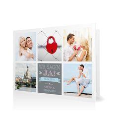 Hochzeitseinladung Mosaik in Graphit - Klappkarte flach #Hochzeit #Hochzeitskarten #Einladung #Foto #kreativ #modern https://www.goldbek.de/hochzeit/hochzeitskarten/einladung/hochzeitseinladung-mosaik?color=graphit&design=30&utm_campaign=autoproducts