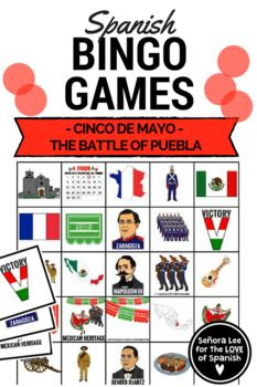 Celebrate the history of Cinco de Mayo! Beautiful clip art that illustrates the true meaning of the holiday. Includes: 40 bingo cards (printed 2 per page), image squares for cutting out and a call list with vocabulary listed in Spanish and English. Perfect activity for your Cinco de Mayo celebration!