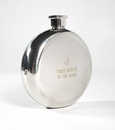 """Small flask """"Three Sheets to the Wind"""""""