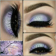 Purple Sparkly Smokey Eye