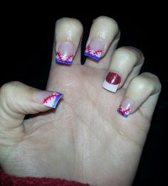 My Texas Rangers inspired nails