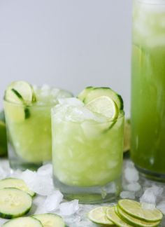 Cucumber Vodka Soda mean, it's like we're drinking SALAD. It's so green that I feel healthier just looking at it. I love cocktails with a hint of cucumber.