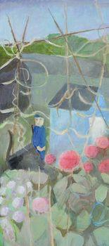 Tessa Newcomb - He's Grown Pom Poms (Dahlias) Pom Pon, Allotments, Beach Landscape, Modern Artists, Dahlias, Mary, Inspirational, Gallery, Flowers