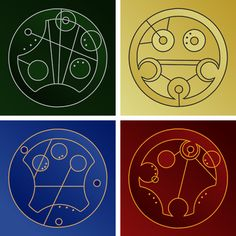 Hogwarts Houses in Circular Gallifreyan. A true nerd can guess what this is without a description