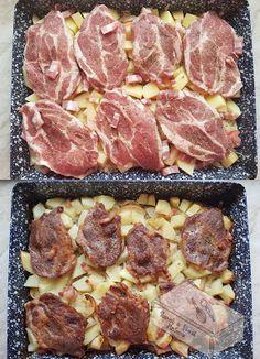Habverő és fakanál: Savanyú káposztás ágyon sült tarja Potato Recipes, Pork Recipes, Chicken Recipes, Cooking Recipes, Easy Healthy Breakfast, Perfect Food, Food 52, Food Porn, Food And Drink