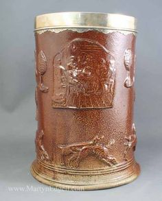 Large London saltglaze stoneware tankard, circa 1770