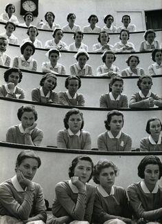 Estudiantes de medicina en el hospital Roosevelt de Nueva York. Alfred Eisenstaedt, 1938