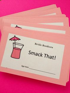 Bachelorette Party Game PINK Boozy Drink Party by brandeschiller, $10.00