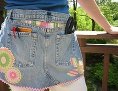Make old jeans into a Craft apron. by stormjem