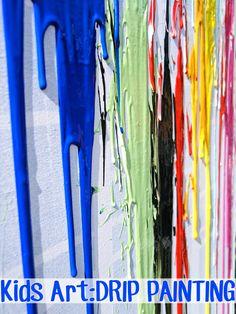 Childhood 101   Kids Art Ideas: Drip Painting