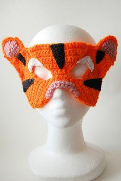 crochet tiger mask
