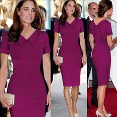 8e8f36188a7 Fashion 2017 Ceremony Elegant Party Women Dresses Retro Formal Princess  Kate Middleton Celebrity Kleider Ukraine Official Runway
