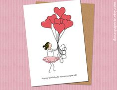 Happy Birthday Card Little Girl Happy Birthday by danaspaperie, $3.99