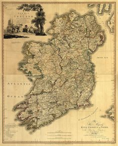 Vintage Map - Ireland 1797