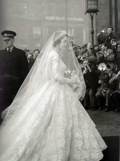 Jane O'Neil's wedding dress, 1953 (by thefoxling)