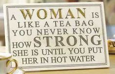 Never underestimate the power of a woman!