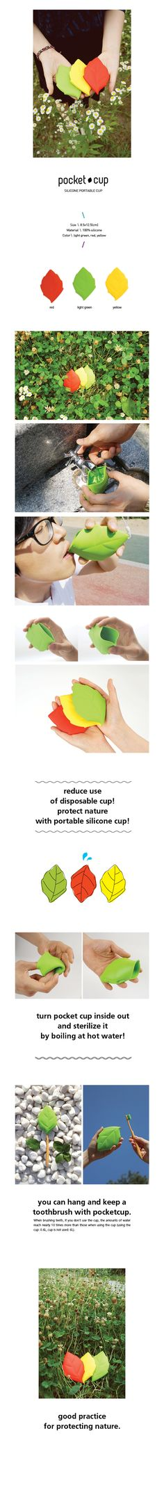 silicone pocket cup - I wouldn't mind a few of these for helping the little ones get drink from the water fountain - And they can be sterilized!