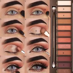 Eye makeup for brown eyes;- Augen Make-up Tutorial; Augen Make-up für braune Augen; Augen Make-up natürlic… Eye Makeup Tutorial; Eye makeup for brown eyes; Eye makeup, of course; Make up - Skin Makeup, Eyeshadow Makeup, Makeup Brushes, Eyeliner, Beauty Makeup, Beauty Tips, Beauty Hacks, How To Do Eyeshadow, Makeup Remover