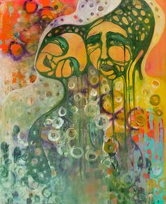 'Selfdom' acrylic layered under oil 2013 Original sold Limited prints available Whimsical, Mixed Media, The Originals, Abstract, Calgary, Prints, Artwork, Artist, Painting