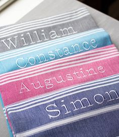 personalised hamam towel by ville et campagne | notonthehighstreet.com