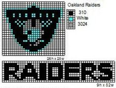 These are the NFL logo and name plate patterns that I use to make scarfs and beenie hats. Here is a pattern for th. Bead Loom Patterns, Weaving Patterns, Cross Stitch Patterns, Crochet Patterns, Crochet Ideas, Afghan Patterns, Crochet Stitches, Graph Crochet, Knit Crochet