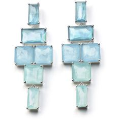 Ippolita Stacked Linear Post Drop Earrings in Blue Star (23.301.840 VND) ❤ liked on Polyvore featuring jewelry, earrings, silver, clear earrings, ippolita, hammered earrings, linear drop earrings and stackers jewelry
