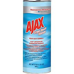 Ajax® Oxygen Bleach Powder Cleanser, 21 oz. - Apparently a great way to clean grout and very inexpensive!